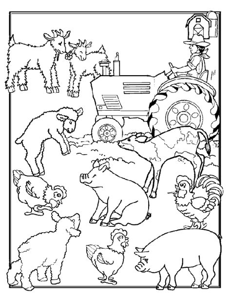 farm animals coloring pages coloringpages1001 com