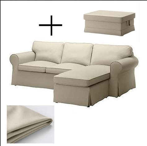 ektorp chaise slipcover ikea ektorp loveseat sofa w chaise and footstool ottoman