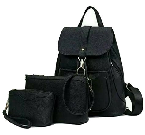 backpack ransel kulit 3in1 gesper kait serut tutup tas
