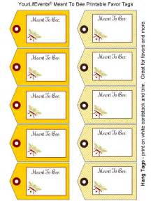 Labels For Wedding Favors Free Templates by Printables Free Meant To Bee Wedding Favor Tags Your