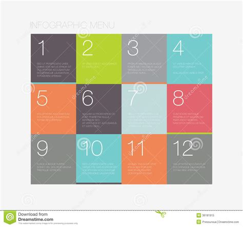 designer colours flat infographic menu interface stock vector image 36181915