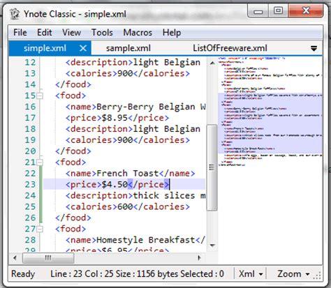 best xml editor free ynote classic
