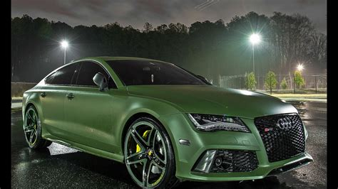 matte green m deezy visions matte green audi rs7 on 22 quot forgiato f2