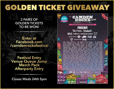 Contest The Lush Golden Ticket by Camden Rocks Festival Golden Ticket Giveaway