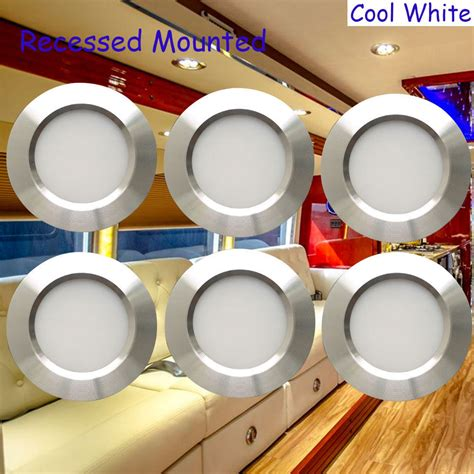 12 volt led lights for rv interior 12 volt 3w interior rv marine led recessed ceiling lights