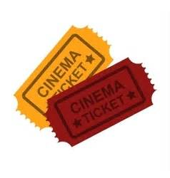 cineplex no passes admit one pink ticket royalty free vector image