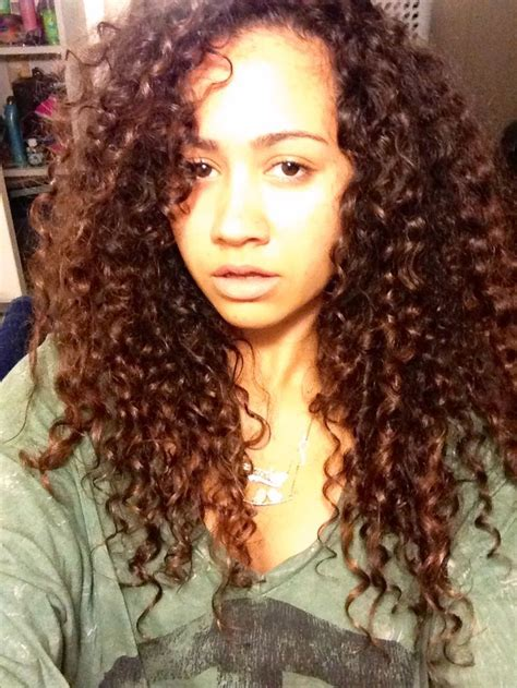 curly hairstyles mixed hair biracial hair curls waves texture pinterest
