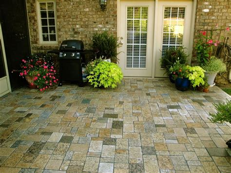 Recycled Patio Pavers Recycled Granite Pavers All The Color In This Patio Yard Ideas Granite