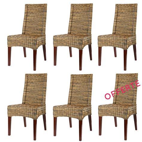 chaise salon pas cher lot 6 chaises en rotin desna chaise en rotin pas cher