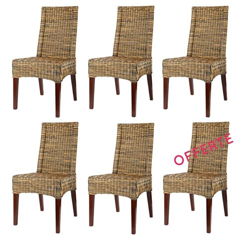 chaise rotin pas cher lot 6 chaises en rotin desna chaise en rotin pas cher