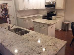 Kitchen Cabinets Review White Orion Granite Countertops Installation
