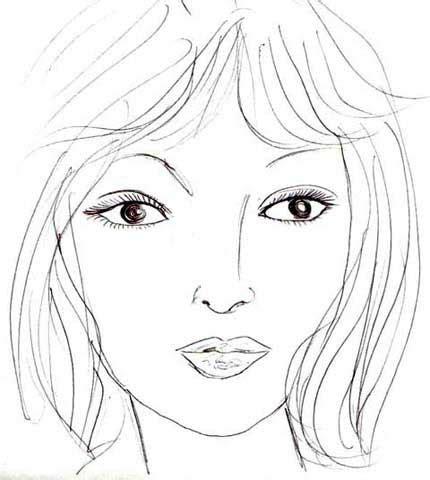 design visage pin dessin de visage femme on pinterest
