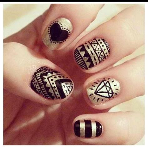 aztec pattern nail art 301 moved permanently