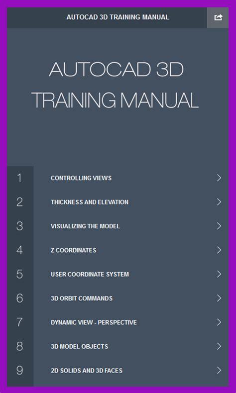 Autocad Tutorial Handbook | autocad 3d training manual amazon com br amazon appstore