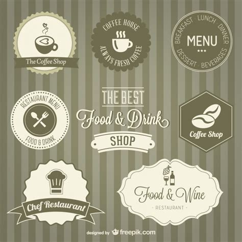 especiero vector retro labels set vector free download