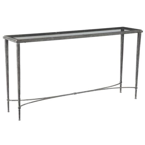 glass and metal sofa table monticello metal glass console table oka