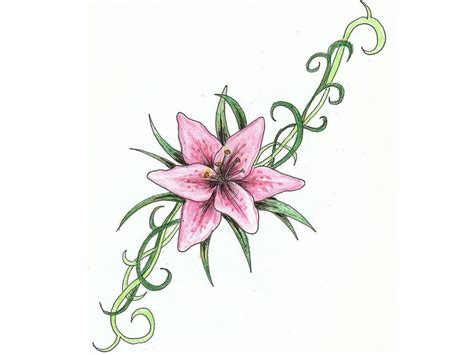 tattoo flower with stem free designs lilly on the green stem tattoo wallpaper