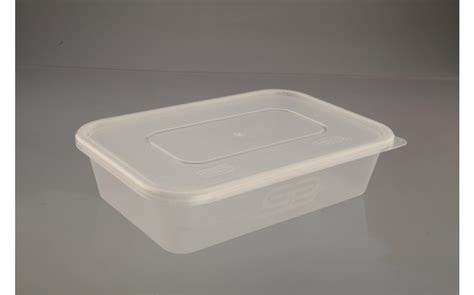 Container Thinwall Microwaveable 500ml 500ml rectangular microwave container lid 250 progressive supplies