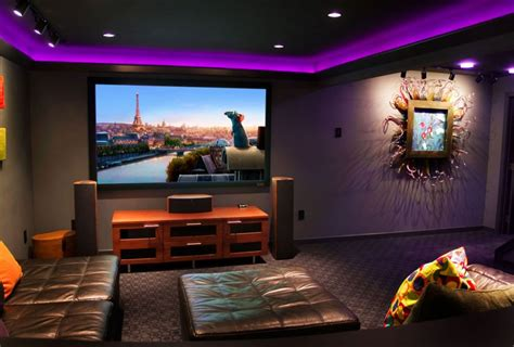 basement home theater pictures