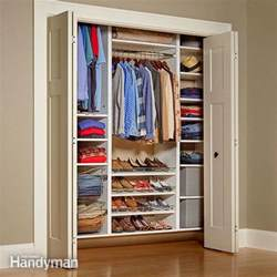How To Build Your Own Closet Organizer by Closet Organizers Storage The Family Handyman