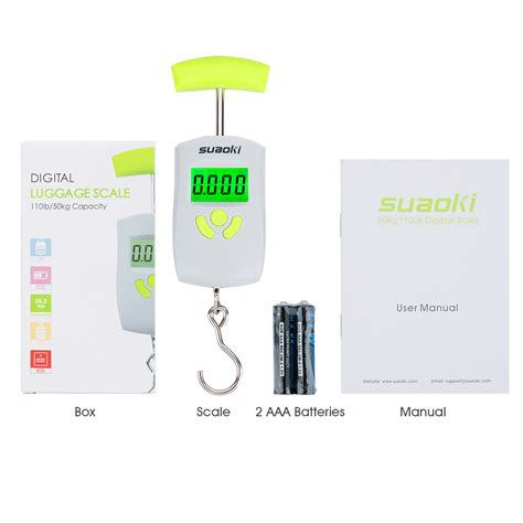 Original Digital Travel Portable Scale Max 50kg Hanging Hook new digital luggage travel scale with lcd backlight