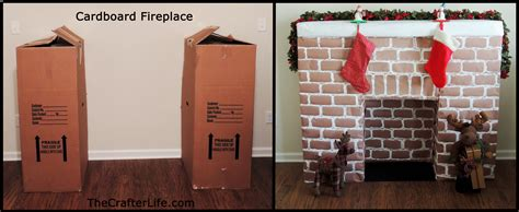 How To Make A Cardboard Fireplace For by Cardboard Fireplace