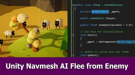 unity tutorial navmesh unity navmesh ai tutorial flee from enemy youtube