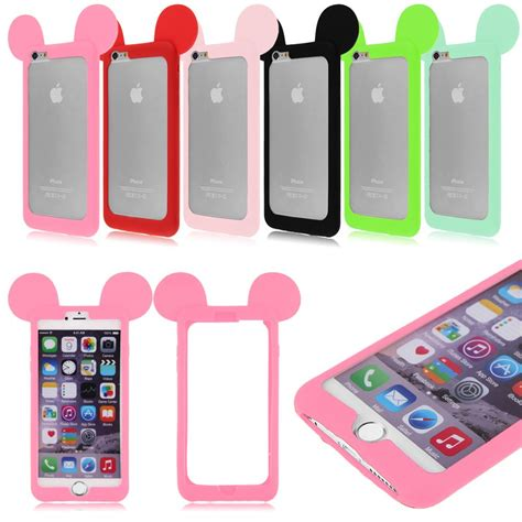Iphone 4 5 6 6 Bunny by Bunny Ears Soft Silicone Phone Bumper Cover For