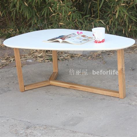 Low Oval Wooden Coffee Table Teardrop Shaped Oval Coffee Table Wood Coffee Table Creative Personality Small Apartment