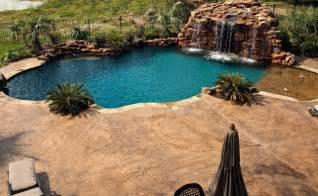 Backyard Lagoon Lagoon Style Swimming Pool With Waterfall Grotto With Spa