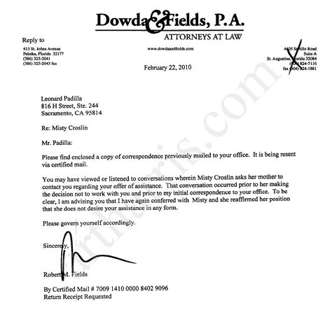 Firing A Divorce Lawyer Letter Templates Lawyer Letter Free Printable Documents
