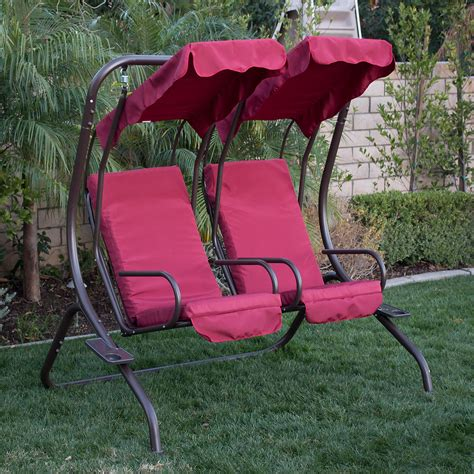 2 person patio swing new outdoor swing set 2 person patio frame padded seat