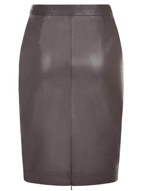 camus grey leather skirt