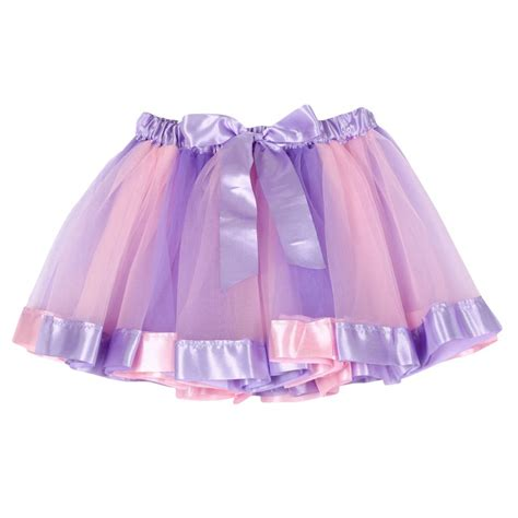 Skirt Tutu Ribbon summer toddlers tutu tulle rainbow ribbon skirt ballet dancewear ebay
