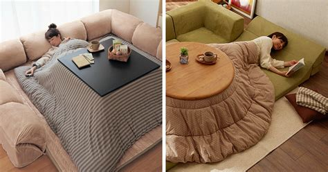 japanese heated table never leave your bed again with this awesome japanese