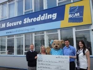 b m home shredding raise money for house