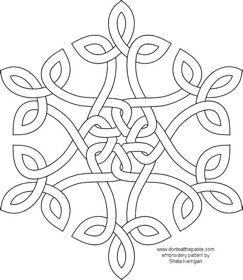 snowflake pattern to color free coloring pages of snowflake templates