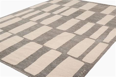 cut out rug contemporary grey and white cut out coco drum area rug for sale at 1stdibs