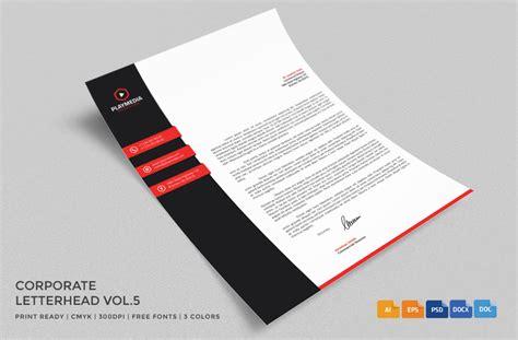 business letterhead design psd 20 professional company letter templates graphic cloud