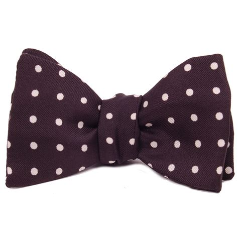 tom and harry silk bow tie self tie black and