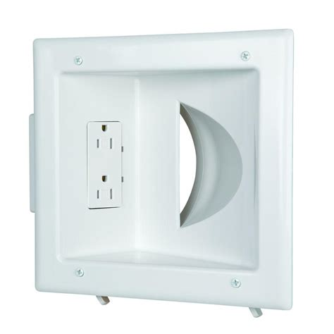recessed outlet for ac adapter commercial electric low voltage recessed media plate with