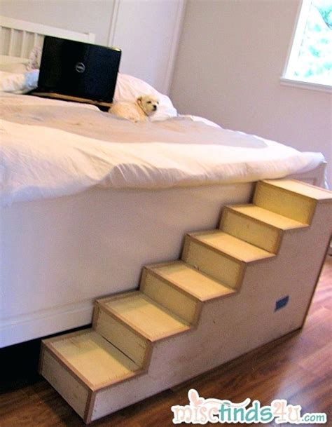 steps for dogs to get into bed dog steps to bed restate co