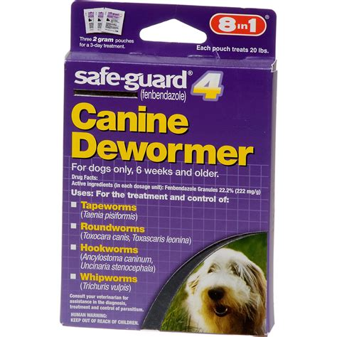 safeguard puppy dewormer 8 in 1 safe guard 4 canine dewormer for small dogs petco store