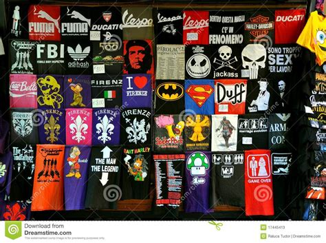 T Shirt Shop by T Shirt Shop Editorial Stock Photo Image 17445413