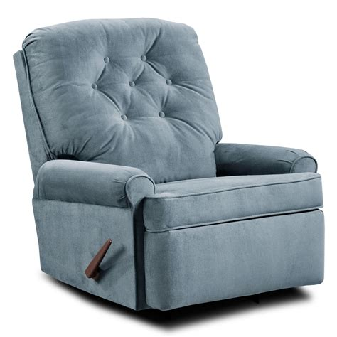 Cloth Recliners by Simmons Satisfaction Fabric Tufted Rocker Recliner