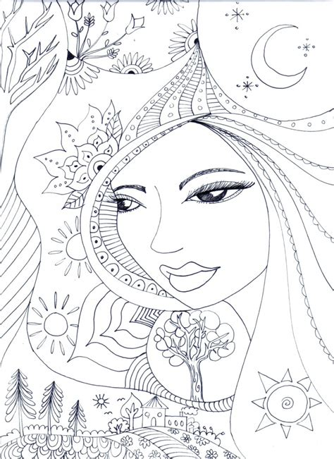 mother earth coloring page free coloring pages for adults