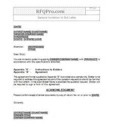 rfq format template rfq templates rfp templates free sle request for