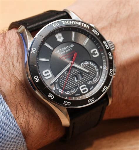 Swiss Army Date Chrono Black Leather Grade A victorinox swiss army chrono classic 1 100th on ablogtowatch