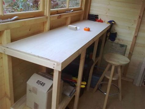 shed benches work shed bench garden sheds pinterest