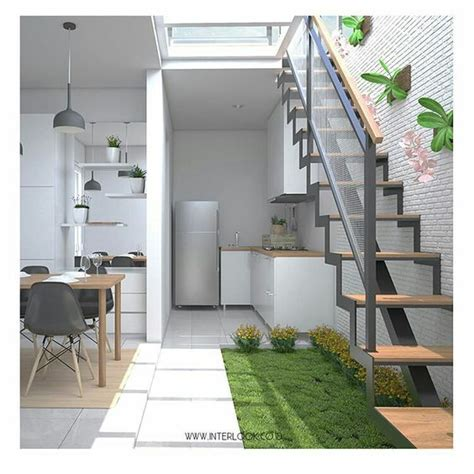 membuat jemuran di dalam rumah konsep taman minimalis yang cantik di dalam rumah rooang com